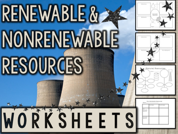 Renewable and Nonrenewable Energy Sources Worksheets ...