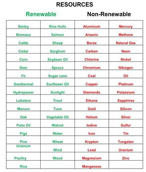 Renewable And Non Renewable Resources Word Search Puzzles