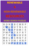 Renewable and Non-renewable Resources Word Search Puzzles
