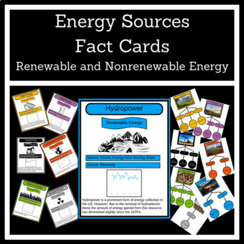 Renewable and Nonrenewable Energy Fact Cards
