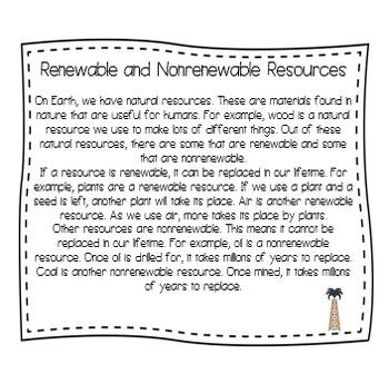 Renewable and Nonrenewable Energy Interactive Notebook