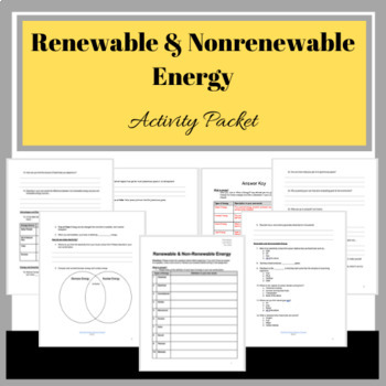Renewable and Nonrenewable Energy: Online Activity Packet
