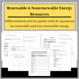 Renewable and Nonrenewable Energy: Online Activity Packet