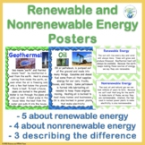 Renewable and Nonrenewable Energy Posters for NGSS