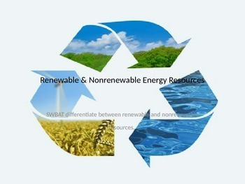 Renewable and Nonrenewable Energy Resources