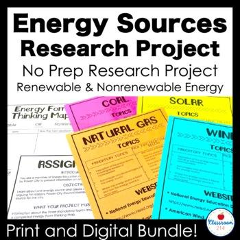 Renewable and Nonrenewable Energy Task Cards