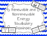 Renewable and Nonrenewable Resource Vocabulary Dominoes