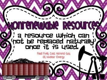 Renewable and Nonrenewable Resources