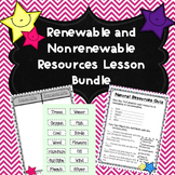 Renewable and Nonrenewable Resources Powerpoint and Activities