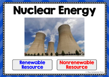 Renewable and Nonrenewable Resources - Digital Boom Cards Sort