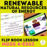 Renewable and Nonrenewable Resources | Flip Book | 4th Gra