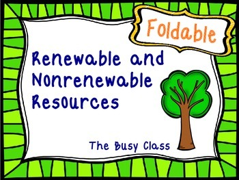 Renewable And Nonrenewable Resources Foldable By The Busy