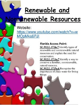 Renewable and Nonrenewable Resources - Kids Educational Games