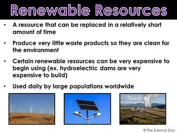 Renewable And Nonrenewable Resources Powerpoint And