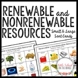 Renewable and Nonrenewable Resources Sort Cards *Natural R