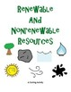 Renewable and Nonrenewable Resources Sorting Activity
