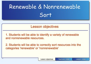 Renewable and Nonrenewable Sort