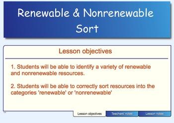 Renewable and Nonrenewable Sort