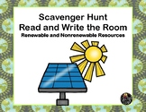 Renewable or Nonrenewable Resources-Read and Write The Room Scavenger Hunt