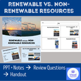 RENEWABLE VS. NON-RENEWABLE RESOURCES – PowerPoint + Review Questions + Handout