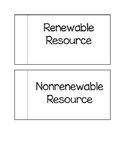 Renewable vs. Nonrenewable Resources