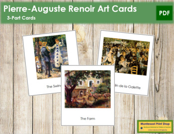 Renoir (Pierre-Auguste) 3-Part Art Cards