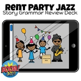 Rent Party Jazz Story Grammar Review Boom Cards Deck hosted on Boom Learning