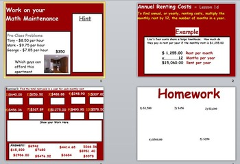 Renting a Home Unit (POWERPOINT)