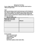 Renting an Apartment Budget and Internet Search Worksheet