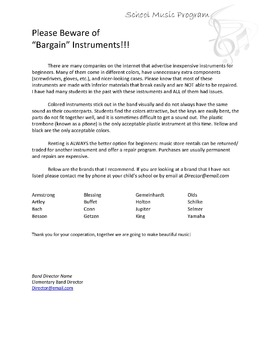 Renting an Instrument