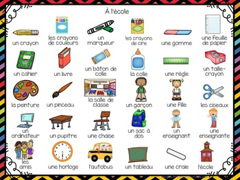 Rentrée Scolaire: 3 Back to School Themed Vocabulary Games in French