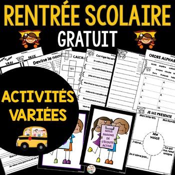 Rentrée Scolaire (Math, Littératie, Activités et Affiches)