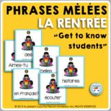 LA RENTRÉE SCOLAIRE   French back-to-school activity   Sentence Builders