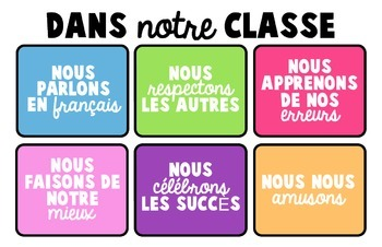 Rentrée - Classroom Signs - French Immersion