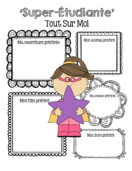 Rentree Scolaire (Back to School Booklet) - French Immersion Printable