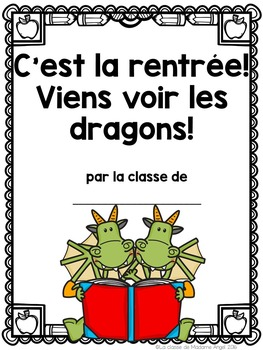 Rentrée Scolaire:  Back to School Themed Emergent Reader in French
