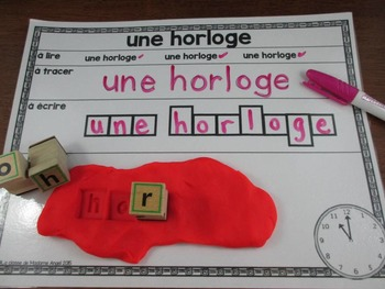 Rentrée Scolaire:  Back to School Themed Word Work Activity Mats in French