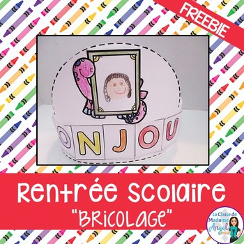 Rentrée Scolaire FREEBIE:  Back to School crown in French