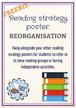 Reorganisation Reading Strategy Poster FREEBIE
