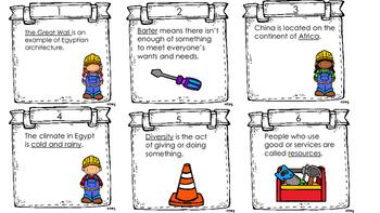 Repair History task cards grade 2
