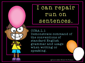 Run On Sentences and Comma Rules Power Point