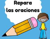 Repara las oraciones (Fix sentence errors in Spanish)