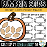 Counting Pumpkin Seeds (Representing Numbers 1-10)