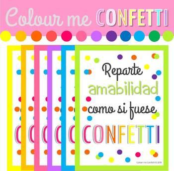 Reparte amabilidad como si fuese confetti - Posters.