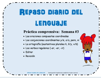 Repaso Diario Del Lenguaje/Daily Oral Language in Spanish