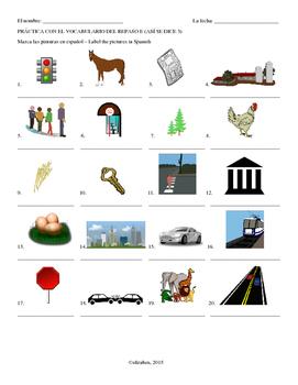 Repaso E Vocab Label Pics (Asi se dice 3)