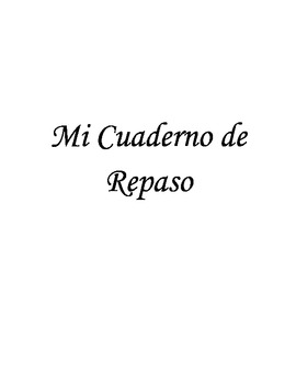 Repaso - Review Packet - Spanish 1 or 2 - Comprehensive Re