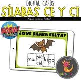 Repaso Sílabas CE y CI Boom Cards