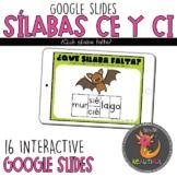 Repaso Sílabas CE y CI Interactive Google Slides