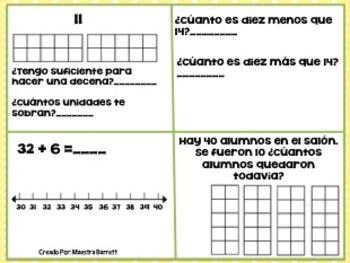 Repaso de Matemáticas- Decenas